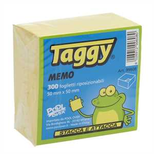 POST-IT CUBO TAGGY 50X50 300FF GIALLO TAGGY