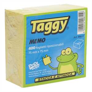 POST-IT CUBO TAGGY 75X75 300FF GIALLO TAGGY