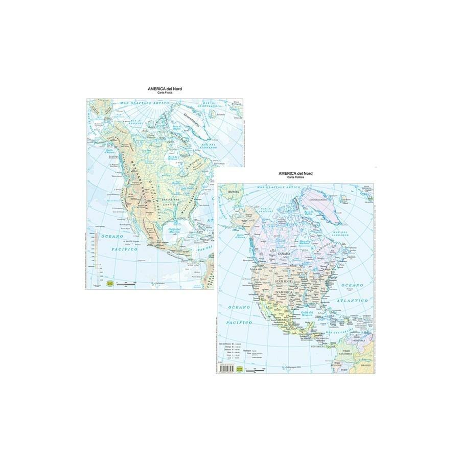 Cartina Geografica Plastificata America Del Nord Carte Geografiche