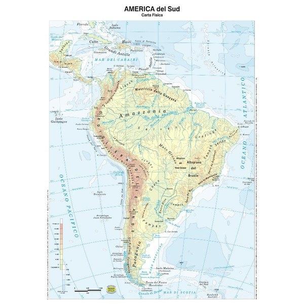 America Politica Cartina.Cartina Geografica Plastificata America Del Sud Belletti Carte Geografiche Minerva 2000