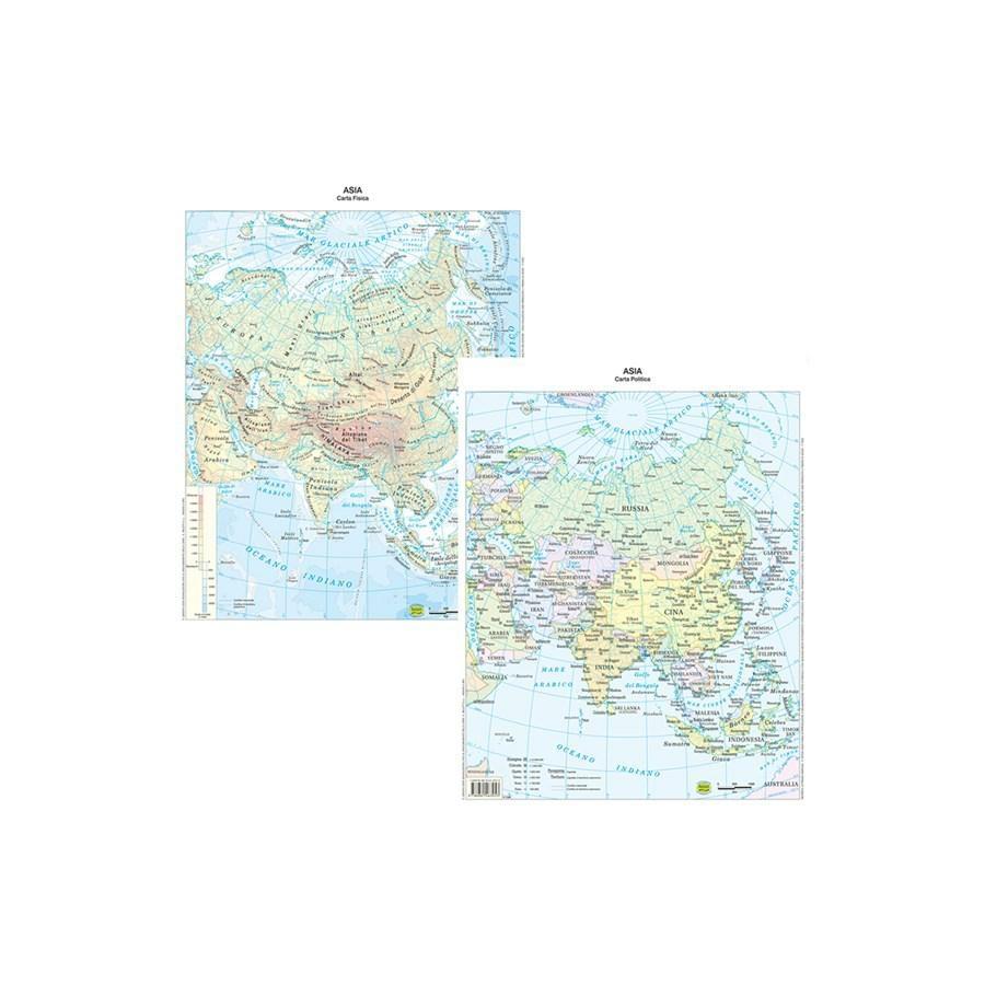 Cartina Geografica Plastificata Asia Carte Geografiche Minerva